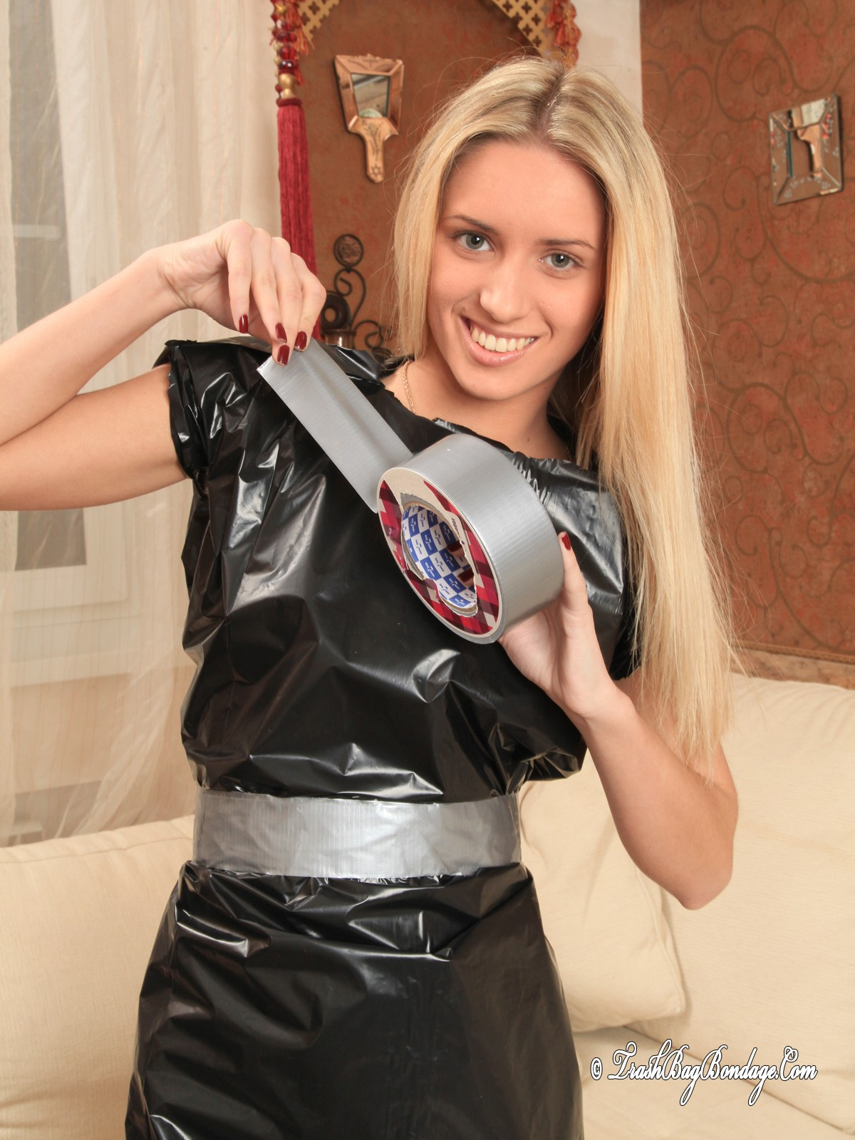 Garbage bag bondage