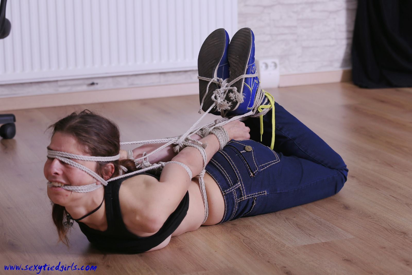 hot girl in tight bondage